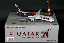 "Qatar Airways 777-300ER ""FC Barcelona"" A7-BAE JC Wings 1:200 Models XX2757"