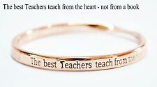 Sterlina Milano Rose Gold Sentimental Message Bangle Bracelet Teacher Gift
