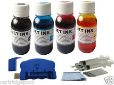 USB Chip resetter +refill ink kit for Epson 125 T125:NX420 NX625 320 323 4x4oz/s