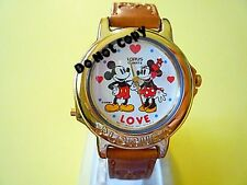 NEW Disney Lorus Mickey Mouse Minnie Mouse Beatles Musical Watch HTF