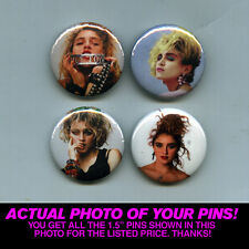 "MADONNA - 1.5"" PINS / BUTTONS (poster print art shirt lp record vintage 80s mtv)"