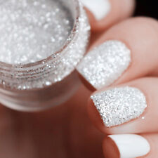 10ml/box Nagel Glitter Tips Weiß Silber 1mm & 2mm & 3mm Nail Design Dekoration