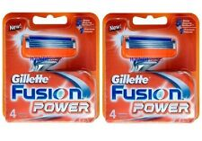 2PACKS, 8PCS GENUINE GILLETTE FUSION POWER SHAVING RAZOR CARTRIDGES BLADES***