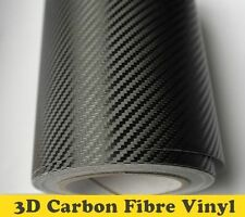 3D CARBON FIBRE VINYL SIZE 300MM x 1520MM BLACK CAR WRAP (Air/Bubble Free)
