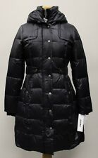 NWT WOMEN'S DKNY FASHIONABLE WARM 3/4 DOWN COAT W/ HOOD BLACK SIZE SMALL