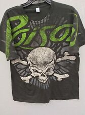 Vintage Size Large Tultex Faded Gray Poison Concert T-Shirt