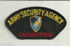 ARMY SECURITY AGENCY ASA COLD WAR VETERAN EMBROIDERED  PATCH