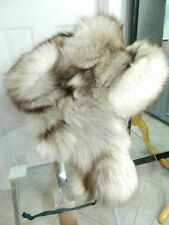 ARCTIC NORVEGIAN FOX FULL FUR MEN HAT MADE in USSR USHANKA TROPPER Sz.S n 90