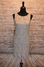 Modcloth Roaring Reception Dress Champagne $180 NWT 6 fits 8 Bead GatsbyDownton