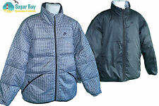 NIKE Sportswear NSW Mens Reversible Quilted Jacket 550 Fill Down Black / Grey M