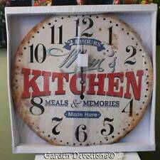 "GIANT 22"" MOM'S DINER KITCHEN CLOCK HUGE XL LARGE Vintage Look  WOOD ~ Nice!"