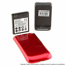 4300mAh Extended Battery for Samsung Galaxy S3 Red Cover Dock Charger