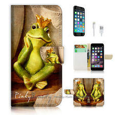 iPhone 6 (4.7') Flip Wallet Case Cover! P0641 Frog Prince