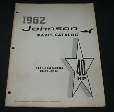 Parts Catalog Johnson Sea Horse RD RDL 24M 40 HP Ersatzteilkatalog 1962!