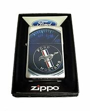 Zippo Custom Lighter Ford Mustang Spedometer Regular Brush Finish Chrome