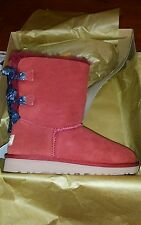 GIRL YOUTH SIZE 4 WOMENS 6 MATADOR RED BAILEY BOW BANDANA UGG BOOTS NEW IN BOX
