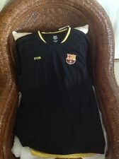 FCB BARCELONA FOOTBALL CLUB SHORT SLEEVE BLACK SOCCER JERSEY SIZE L MEN