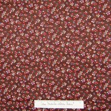 Calico Floral Fabric Bombay Indian Leaf Toss Dark Brown Kings Road Cotton YARDS