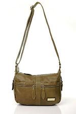 Fashion Louis Genuin Leather Khaki Women Cross Body Bags Ladies Satchel handbags