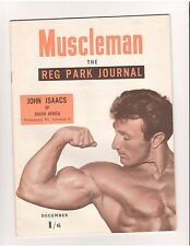 Reg Park Journal MUSCLEMAN bodybuilding muscle magazine/JOHN ISAACS 12-53 (UK)