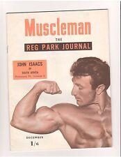 Reg Park Journal MUSCLEMAN bodybuilding muscle magazine/JOHN ISAACS 12-53 (UK)