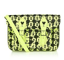 "***RERE Cambridge Satchel Company 11"" Disney Mickey Mouse Neon Yellow BNWOT***"