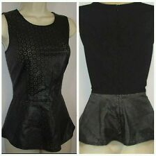 NWT INC International Concepts Perforated Peplum Tank Top SIZE S Simply chic!