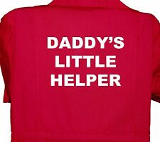 Daddy's Little Helper Baby, Childrens, Kids, Coverall, Boilersuit, Overall 1-7yr