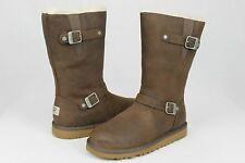 UGG KENSINGTON LEATHER/SHEEPSKIN TOAST BROWN BOOTS YOUTH 6 FITS WOMANS 8 US