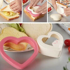 AB Heart Hearted Shape Sandwich Bread Toast Maker Mold Mould Cutter DIY Tool