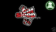 eat sleep honda car sticker decal jdm drift honda race car sticker decal
