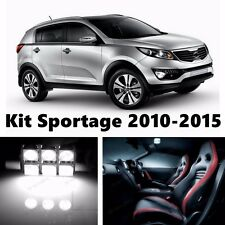 10pcs LED Xenon White Light Interior Package Kit for KIA Sportage 2010-2016
