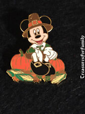 Disney LE Pin JDS Pilgrim Mickey Mouse Thanksgiving Pumpkins Walt 100th FREE SHP