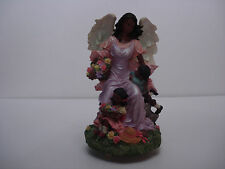 Angel with Children Music Box