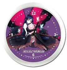*NEW* Accel World Kuroyukihime & Haruyuki Arita Round Wall Clock