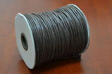 100 METER BROWN WAXED COTTON BEADING CORD STRING ROLL 2MM #F-52J