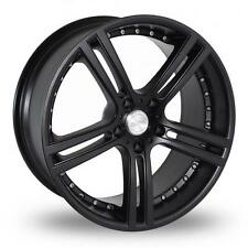 "19"" TEAM DYNAMICS LE MANS MATT BLACK ALLOY WHEELS ONLY 5X112 ET35"