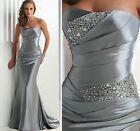 Formal Gown Wedding Bridal Pageant Evening Bridesmaids Party Prom Dress In Stock