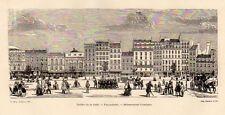 PARIS THEATRE LA GAITE FUNAMBULES DELASSEMENTS COMIQUES GRAVURE 1878 ENGRAVING