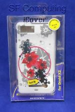 New iCover Rubberized Hard Design Case Motorola Droid X2 MB810/MB870 Red Flowers