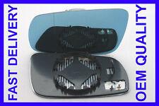 SKODA SUPERB ESTATE 2002-2008 WING MIRROR GLASS LEFT BLUE HEATED BLIND SPOT