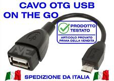 CAVO OTG MICRO USB B ON THE GO CABLE CHIAVETTA DATI TELEFONO SMARTPHONE TABLET