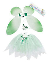 Childrens VERDE FATA Set Ali Tutu TINKERBELL MAGICO Princess Fancy Dress