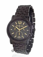 BRAND NEW WOMENS MICHAEL KORS (MK5984) BAISLEY BLACK ION CHRONOGRAPH WATCH