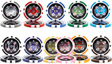 New Bulk Lot of 1000 Ace Casino 14g Clay Casino Poker Chips - Pick Chips!