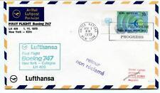 FFC 1970 Lufthansa First Flight Boeing 747 LH 409 New York USA Frankfurt