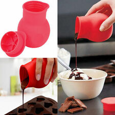 Soft Silicone Chocolate Melting Pot Mold Mould Butter Pouring Kitchen Tool JS