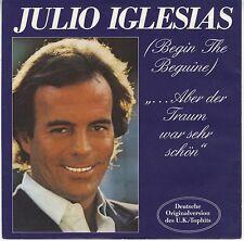 45 trs Allemagne Julio Iglesias chante en allemand Aber der traum war sehr VG+