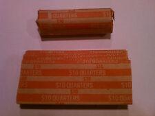 500 - Quarters Flat Coin Wrappers Pop Open Tubes - 25c Twenty Five Holder Cent