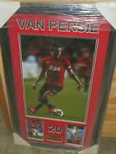 "Robin Van Persie unsigned Manchester United 12""x18"" photo framed with plaque"